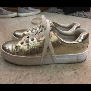 H&M gold sneakers